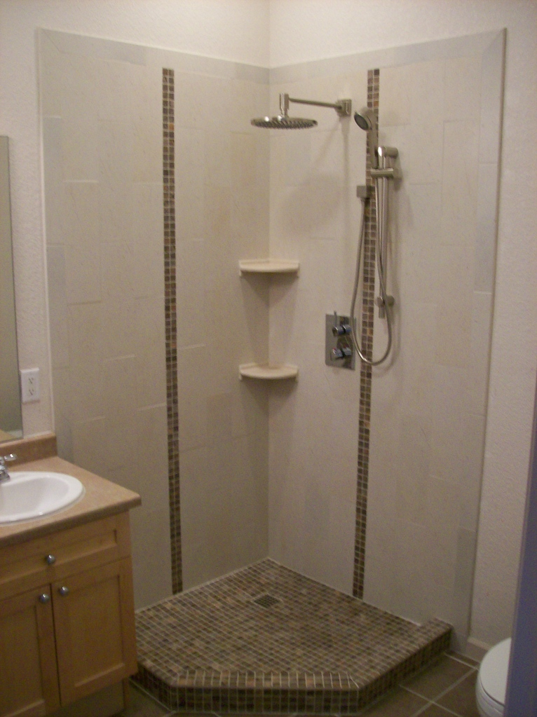 Corner Shower Mjr Paint And Tile Llc