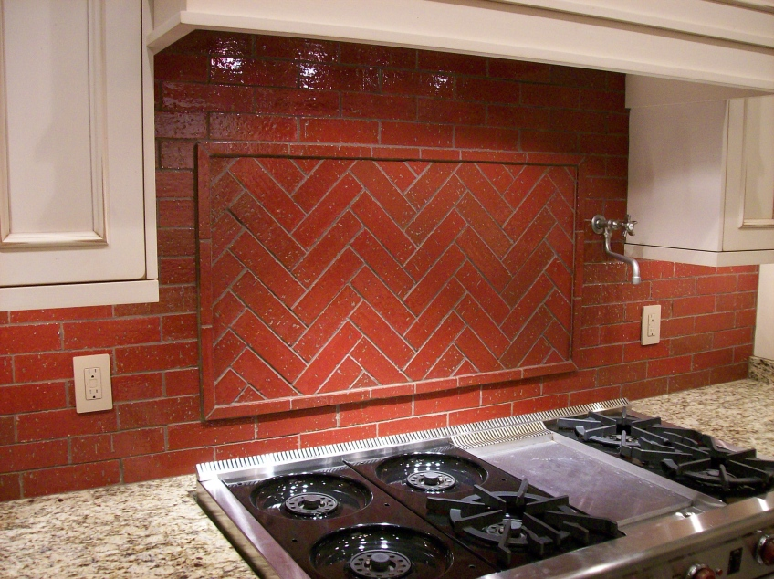 brick backsplash mjr paint and tile llc